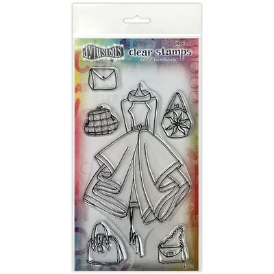Dylusions Couture Clear Stamp, Ladies Who Lunch