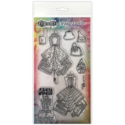 Dylusions Couture Clear Stamp, Ladies Who Lunch Duo