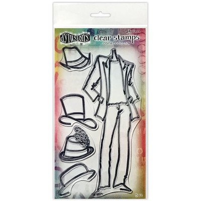 Dylusions Couture Clear Stamp, Man About Town