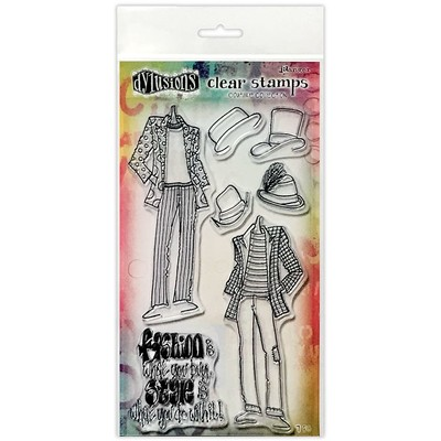 Dylusions Couture Clear Stamp, Man About Town Duo