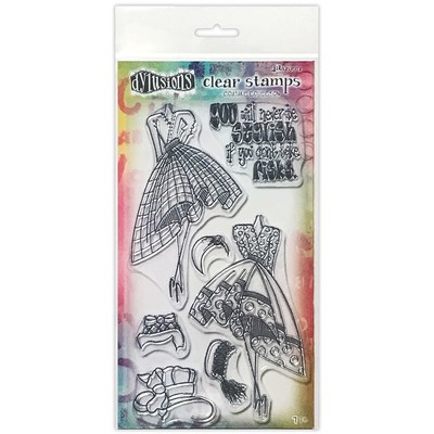 Dylusions Couture Clear Stamp, Night At the Opera Duo