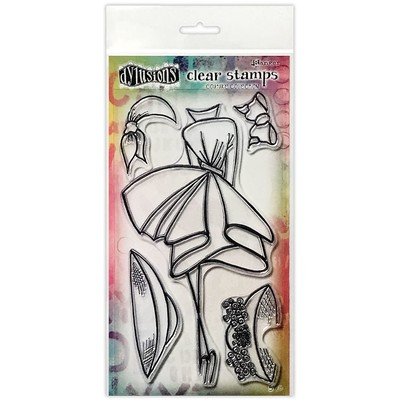 Dylusions Couture Clear Stamp, Walk in the Park