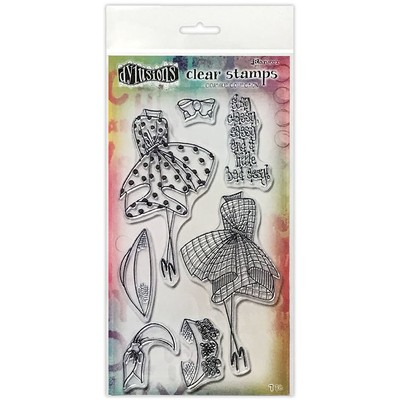 Dylusions Couture Clear Stamp, Walk in the Park Duo