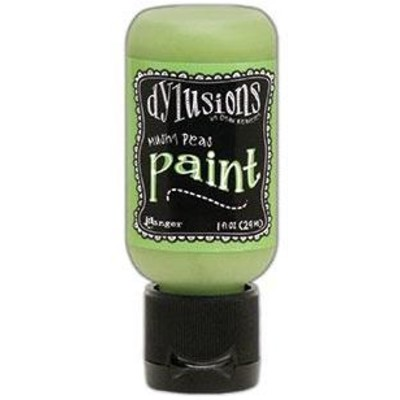 Dylusions Paint, 1 oz. Flip Cap Bottle - Mushy Peas