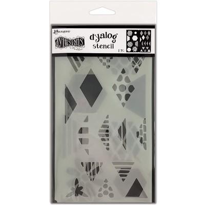 Dylusions Dyalog Stencil, Quilt It