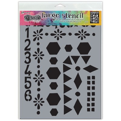 Dylusions Stencil, Large - Number Frame