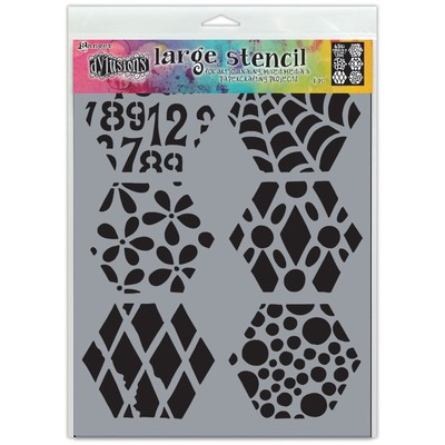 Dylusions Stencil, Large - Quilt n More