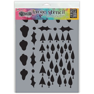 Dylusions Stencil, Large - Tree Border