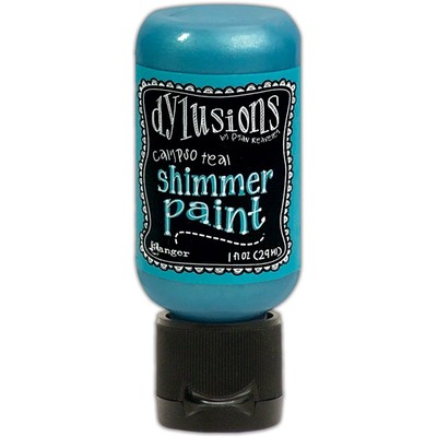 Dylusions Shimmer Paint, Calypso Teal (1oz)