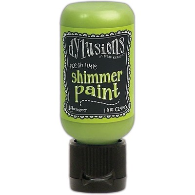 Dylusions Shimmer Paint, Fresh Lime (1oz)