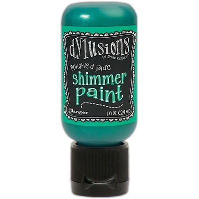 Dylusions Shimmer Paint, Polished Jade