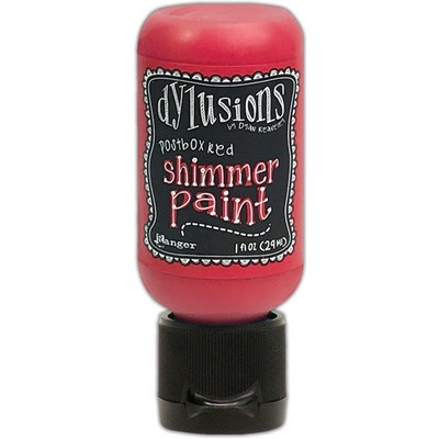 Dylusions Shimmer Paint, Postbox Red (1oz)