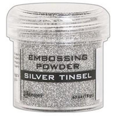 Embossing Powder, Silver Tinsel