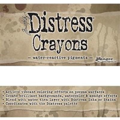 Header Card, Tim Holtz Distress Crayons