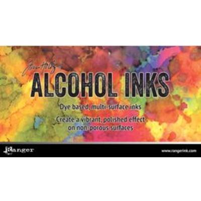 Header Card, Tim Holtz Alcohol Inks