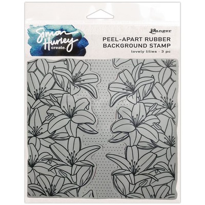 Simon Hurley create. Background Stamp, Lovely Lilies