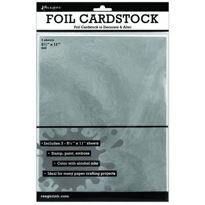 """Silver Foil Cardstock 8.5X11"""" 3pk"""