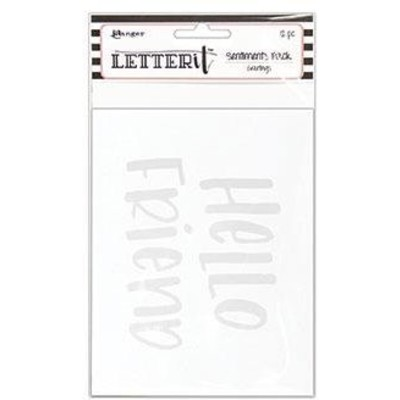 Letter It Sentiment Pack, Greetings