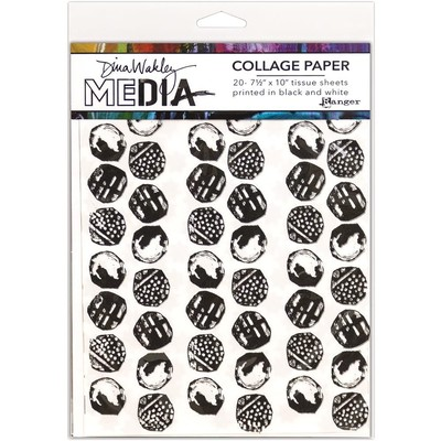 Dina Wakley MEdia Collage Paper, Backgrounds