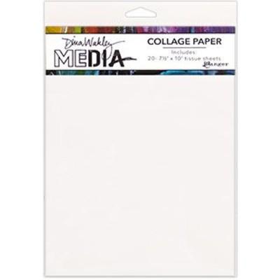 Dina Wakley MEdia Collage Paper, Plain