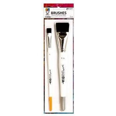 "Dina Wakley MEdia Brush Set, Synthetic Bristle (1 1/2"", 1/2"")"