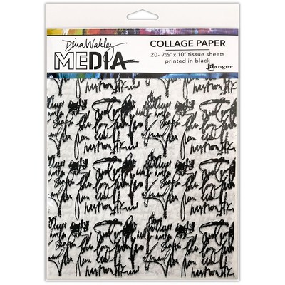 Dina Wakley MEdia Collage Paper, Just Words