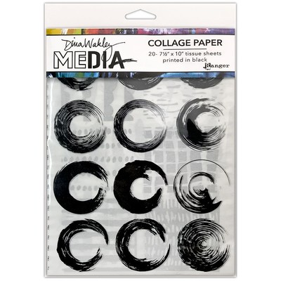 Dina Wakley MEdia Collage Paper, Elements