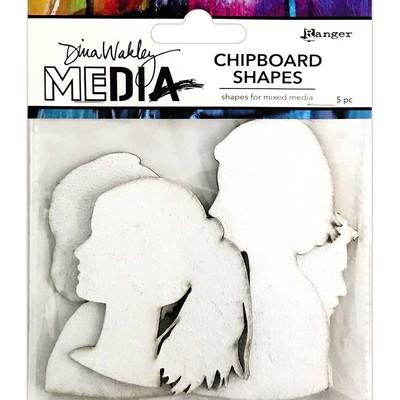 Dina Wakley MEdia Chipboard Shapes, Profiles