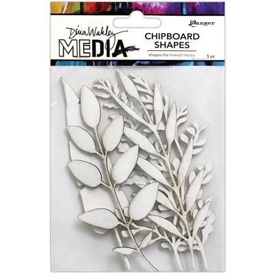 Dina Wakley MEdia Chipboard Shapes, Sprigs