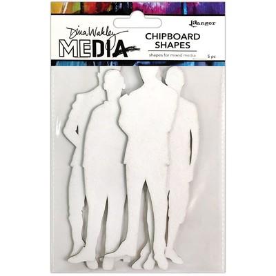 Dina Wakley MEdia Chipboard Shapes, The Men