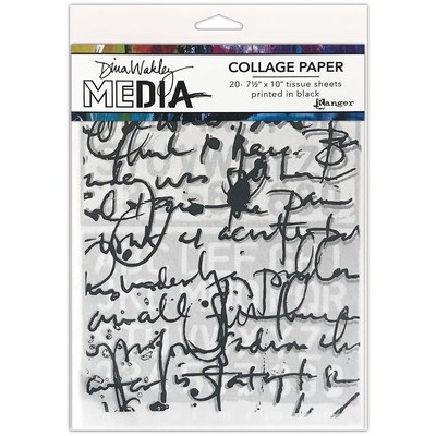 Dina Wakley MEdia Collage Paper, Text Collage