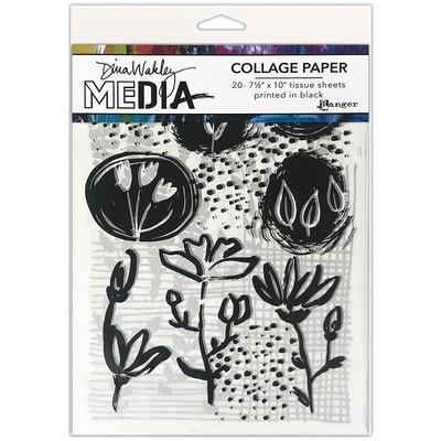 Dina Wakley MEdia Collage Paper, Things That Grow