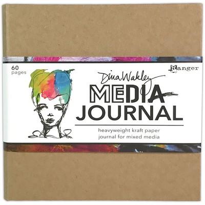 Dina Wakley MEdia 6X6 Journal, Kraft