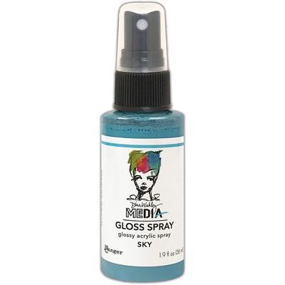 Dina Wakley MEdia Gloss Spray, Sky