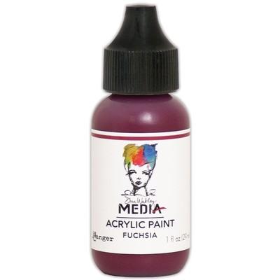 Heavy Body Acrylic Paint, Fuchsia (1 oz. Bottle)