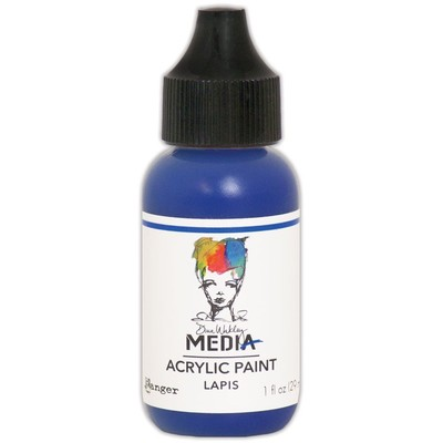 Heavy Body Acrylic Paint, Lapis (1 oz. Bottle)