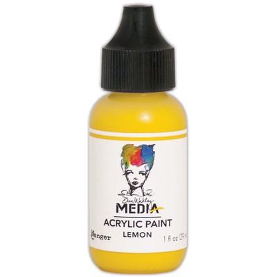 Heavy Body Acrylic Paint, Lemon (1 oz. Bottle)