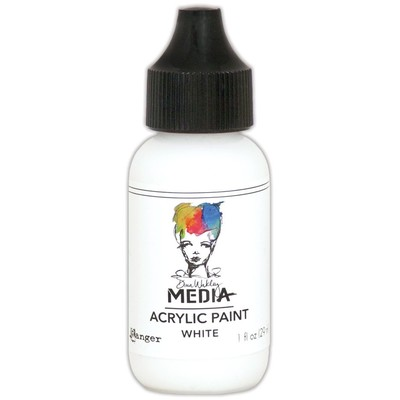 Heavy Body Acrylic Paint, White (1 oz. Bottle)