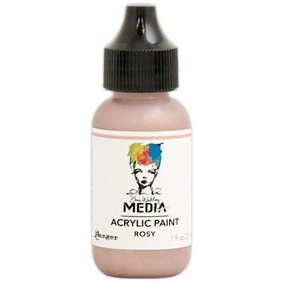 Heavy Body Acrylic Paint, Rosy (1 oz. Bottle)