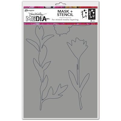 Dina Wakley MEdia Stencils/Mask, Growing Mask