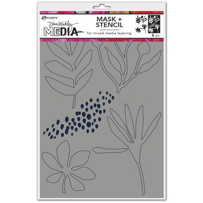 Dina Wakley MEdia Cling Stamp, Things That Grow