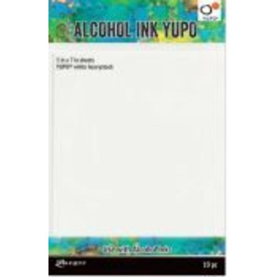 """Alcohol Ink Yupo Paper, White - 5x7"""" (144lbs. 10 Pack)"""