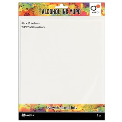 """Alcohol Ink Yupo Paper, White - 8x10"""" (86lbs 5 Pack)"""
