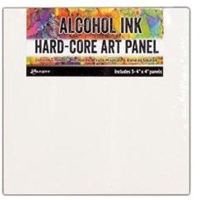 Tim Holtz Alcohol Ink Hard Core Art Panels, 4x4 (3 Pack)
