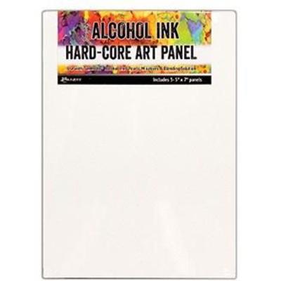 Tim Holtz Alcohol Ink Hard Core Art Panels, 5x7 (3 Pack)