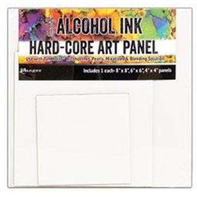 Tim Holtz Alcohol Ink Hard Core Art Panels, Square (3 Pack)