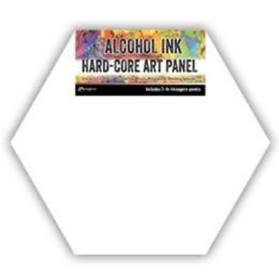 "Tim Holtz Alcohol Ink Hard Core Art Panels, 4"" Hex Shaped"