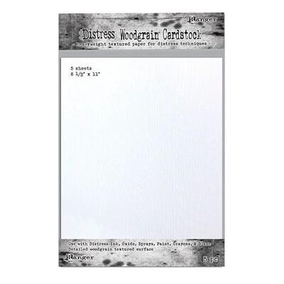 "Distress Paper, Wood Grain 8.5 X 11"" (5Pk)"