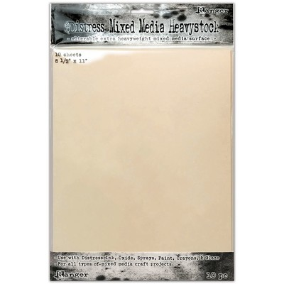 Distress 8.5X11 Heavystock, Mixed Media (10 Pack)