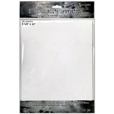 Distress 8.5X11 Heavystock, White (10 Pack)